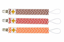 Pacifier Clips 3-Pack - Autumn Theme