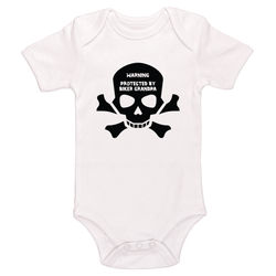 Warning Protected By Biker Grandpa Baby / Toddler Bodysuit