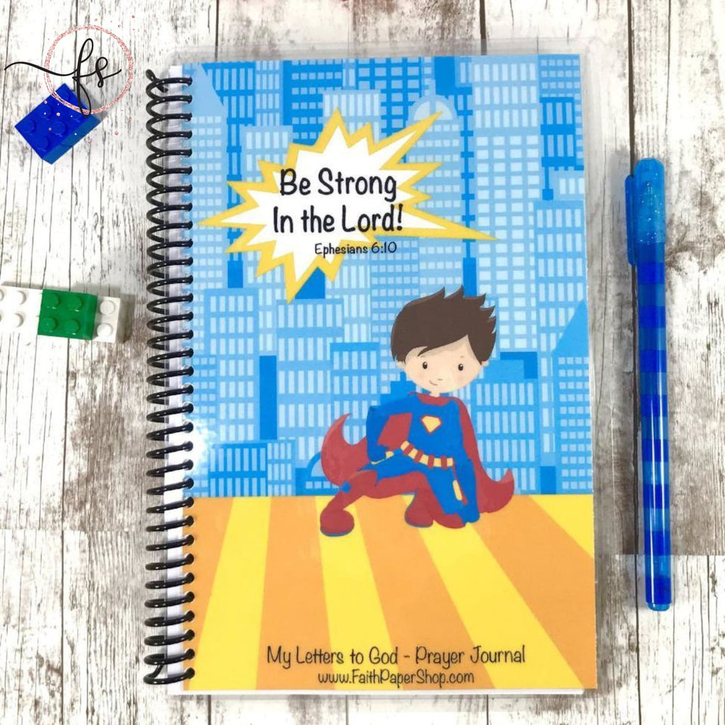 Boys Prayer Journal - Superhero - Faith Paper Shop