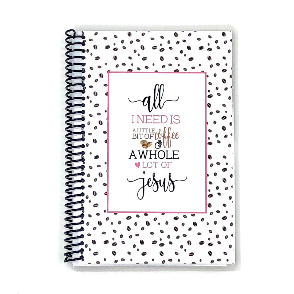coffee and jesus womens custom faith journal