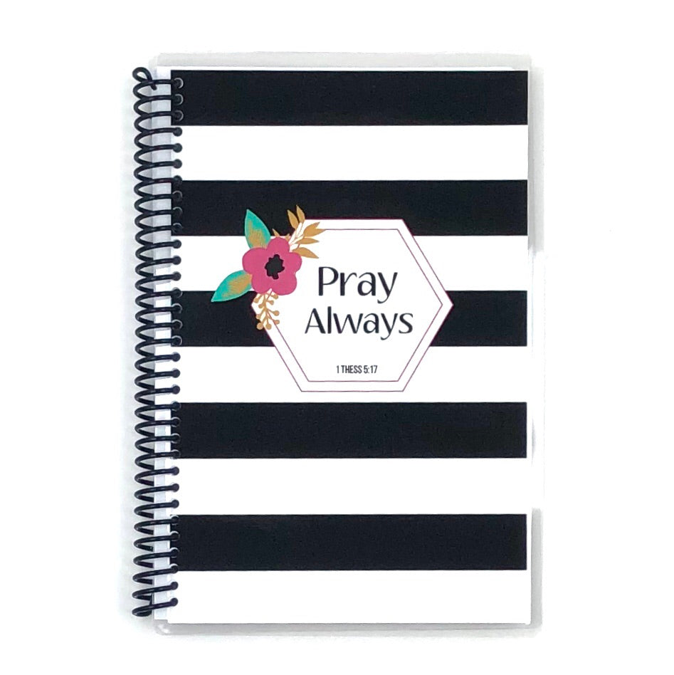 Prayer Journal - Striped Floral