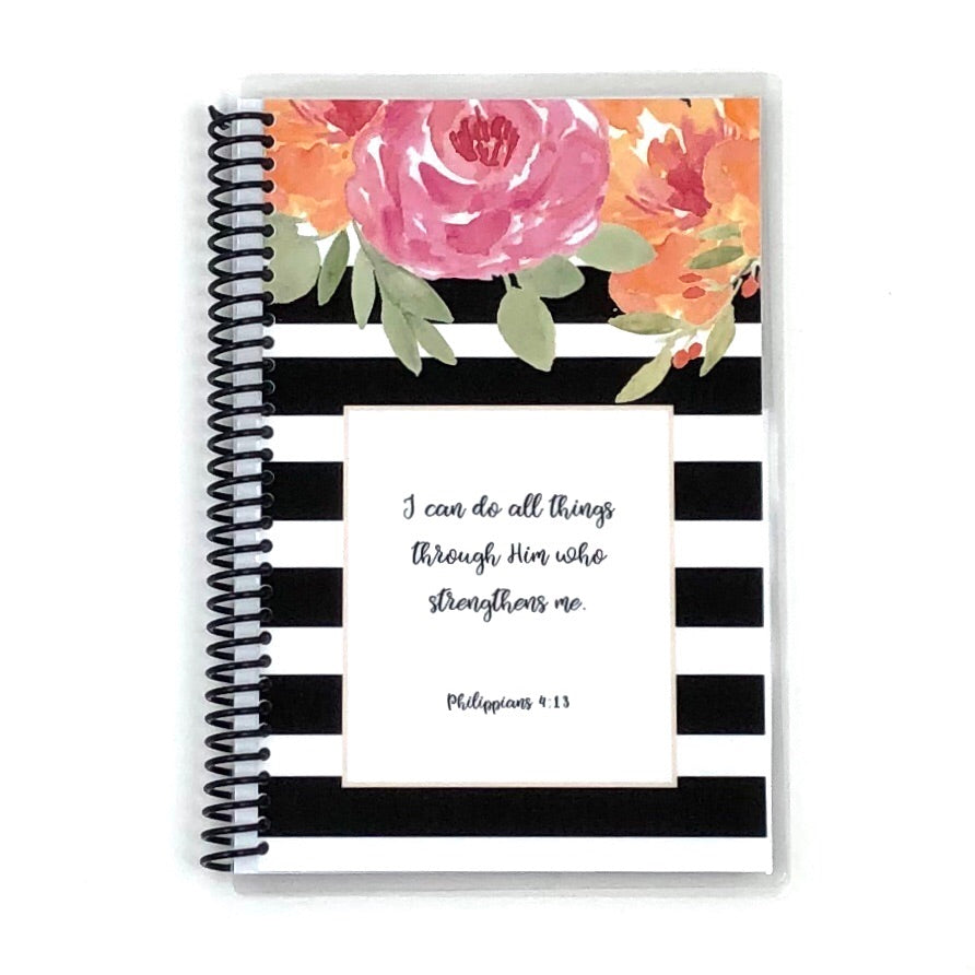 Custom Christian Journal - Floral Stripe