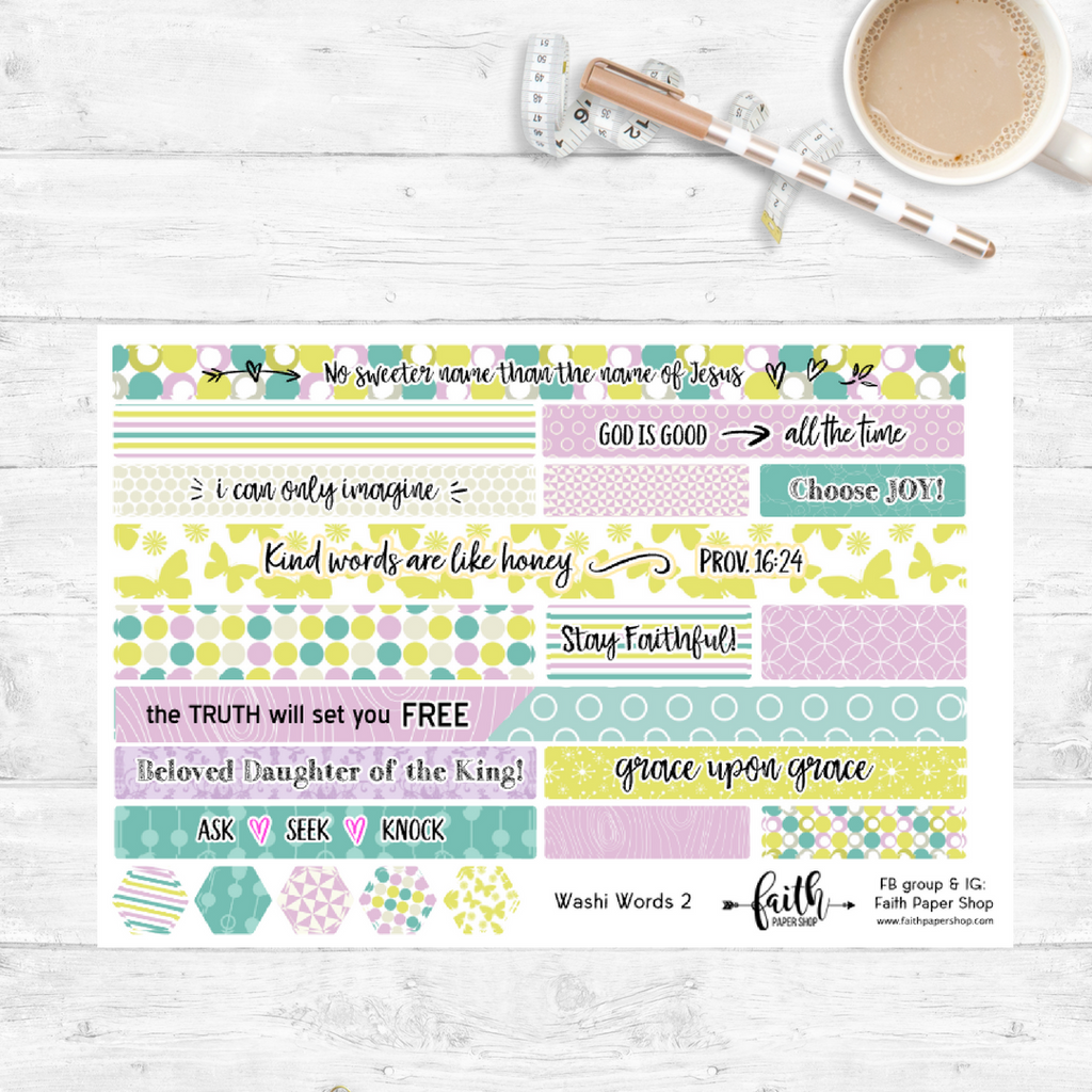 Washi Words - Scripture Stickers - Butterflies