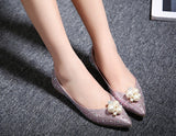 Womens Beautiful Bling Casual Dress Flats