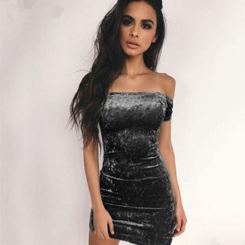 Womens Sexy Club Off Shoulder Strapless Party Evening Mini Pencil Dress
