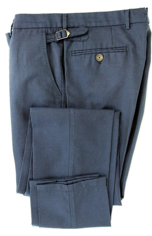 Equipage - Dark Blue Birdseye Wool Pants - PEURIST