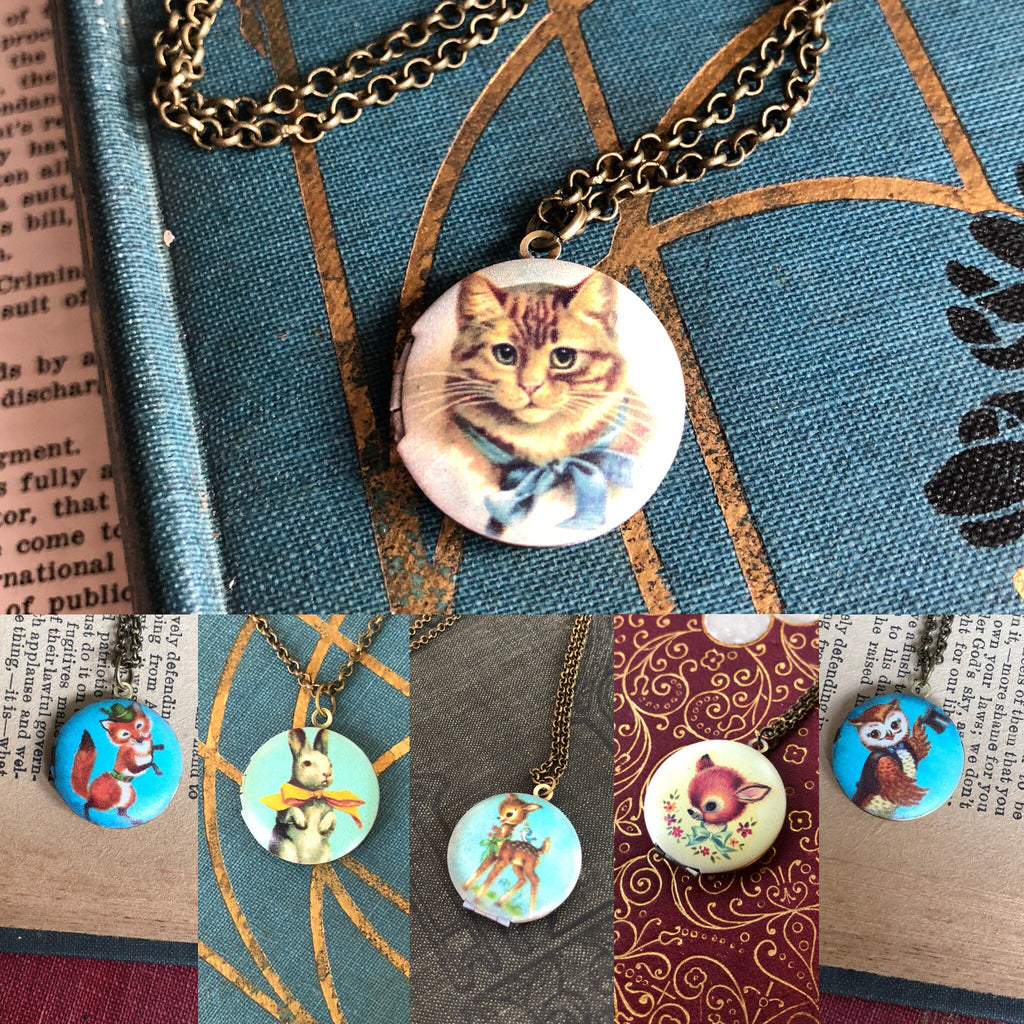Vintage Illustration Locket