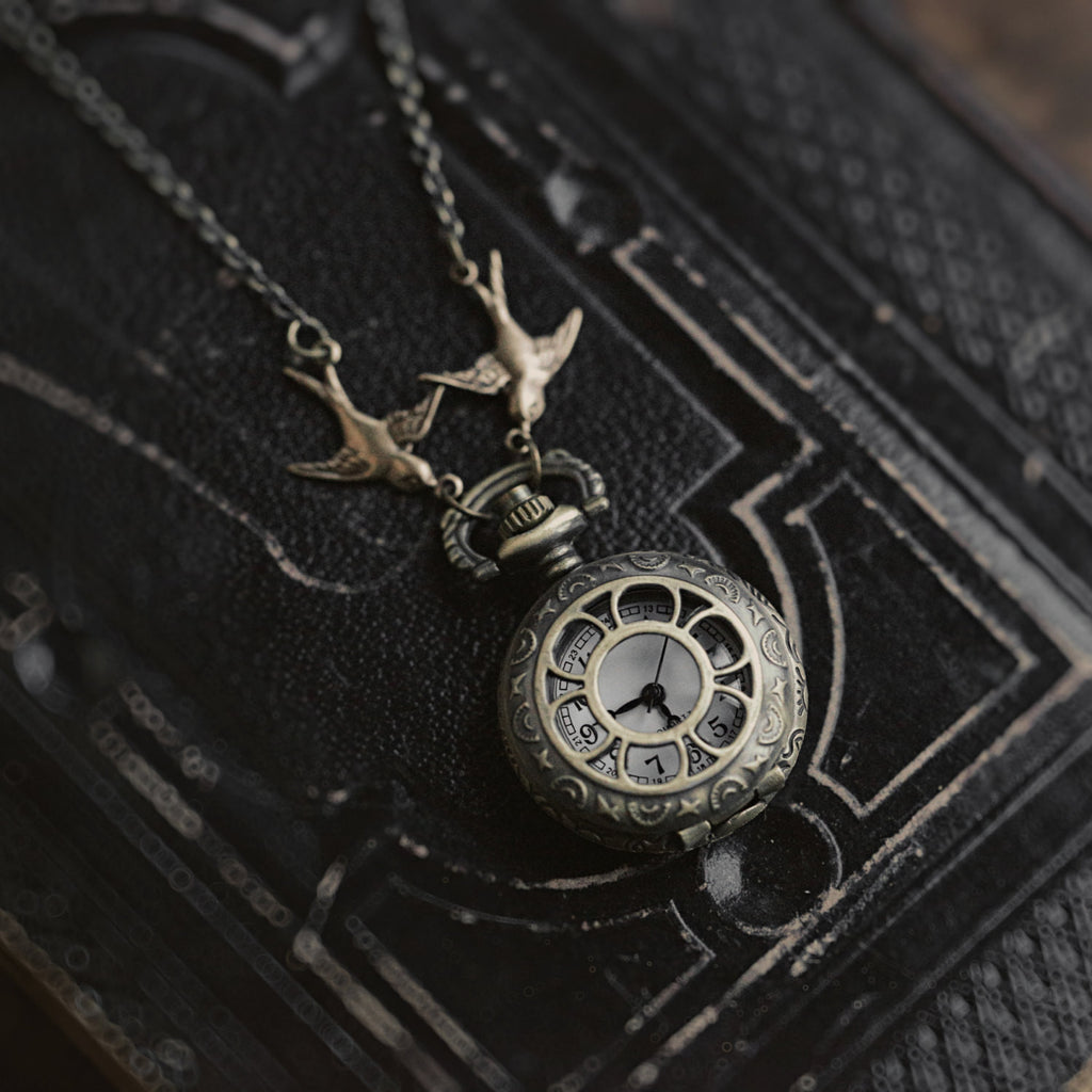 Brass Pocket Watch Necklace number 20