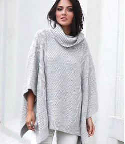 Bells Out Poncho - Grey - MW Boutique