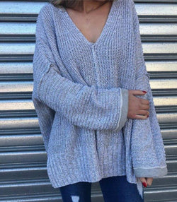 Oversized Grey Knit - MW Boutique