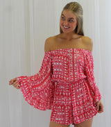 Pink Paisley Playsuit - MW Boutique