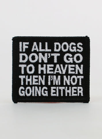 All Dogs Go To Heaven Patch
