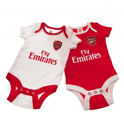 Arsenal FC 2 Pack Bodysuit (3 - 6 Months) - Official Merchandise