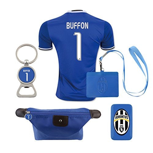 #1 Buffon (6 in 1 Combo) Juventus F.C. Away Match Adult Soccer Jersey 2016-2017