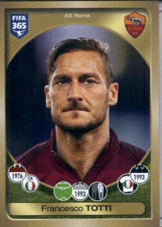 2016-17 Panini FIFA 365 #285 Francesco Totti AS Roma Soccer Sticker
