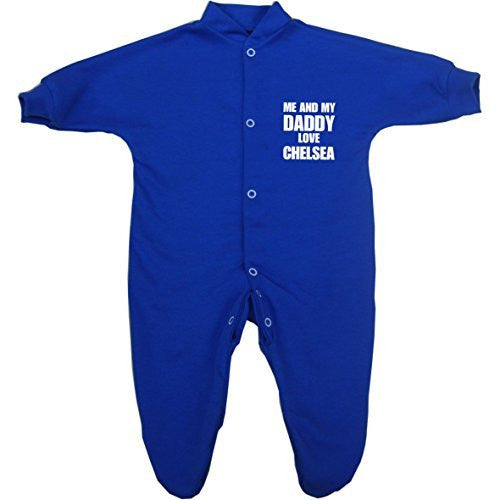 'Me and my Dad Love Chelsea' Baby Sleepsuit
