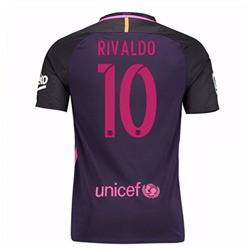 2016-17 Barcelona With Sponsor Away Shirt (Rivaldo 10)