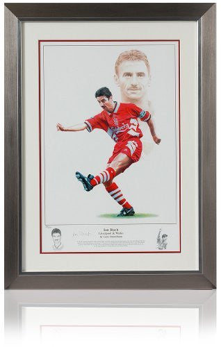 Large hand signed Ian Rush Art Print