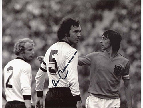Franz Beckenbauer SOCCER autograph, In-Person signed photo