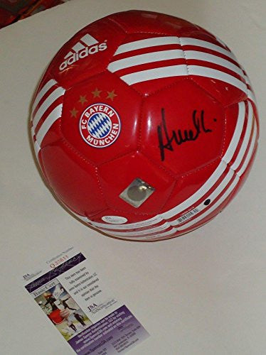Carlo Ancelotti signed Bayern Munich Germany soccer ball Coa Authenticated - JSA Certified - Autographed Soccer Balls