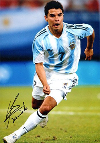 Javier Saviola ARGENTINE autographed, IP signed photo