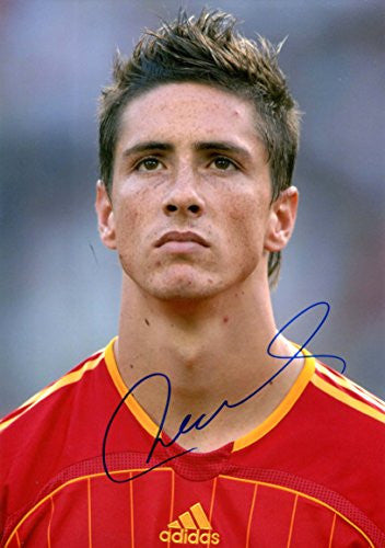 Fernando Torres FOOTBALL autograph, IP signed photo