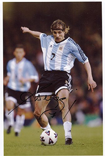 ARGENTINE FOOTBALLER Claudio Caniggia autographed, In-Person signed photo