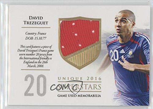 David Trezeguet #49/59 (Trading Card) 2016 Futera Unique - Superstars #SS48