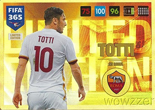 2017 Panini Francesco Totti Limited Edition Card! Rare!