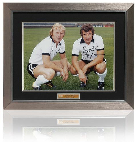 Alan Mullery Hand Signed Bobby Moore Photograph (PP402)