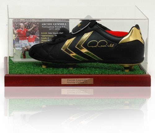 Archie Gemmill Hand Nottingham Forest Signed Boot