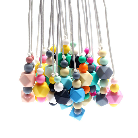 Silicone Beads Necklace in contemporary style