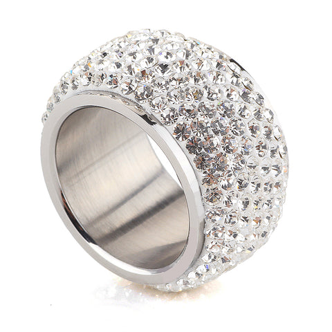 Wholesale High Quality Classic Six Row Crystal Jewelry Wedding Ring FREE SHIPPING!