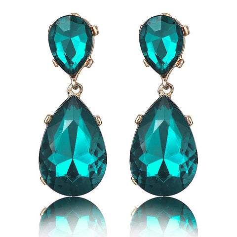 E095 Hot Sale Water Crystal Earrings Vintage Wedding Jewelry For Women Fashion Tear Earrings High Quality Wholesale