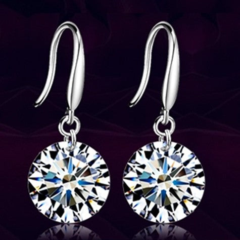 Fashion Silver color Earring For Women Crystal AAA Cubic Zirconia Earrings Stone Pendientes Mujer Moda