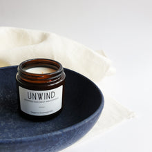 Load image into Gallery viewer, Unwind - Coconut Wax Jar Vegan Candle