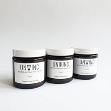 Load image into Gallery viewer, Unwind - Coconut Wax Jar  Organic Candle