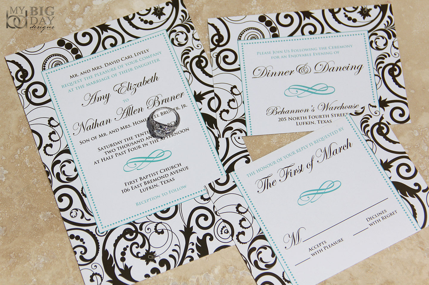Adoring Exuberance Invitation Set