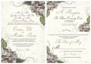 Beautiful Hydrangea Invitation Set