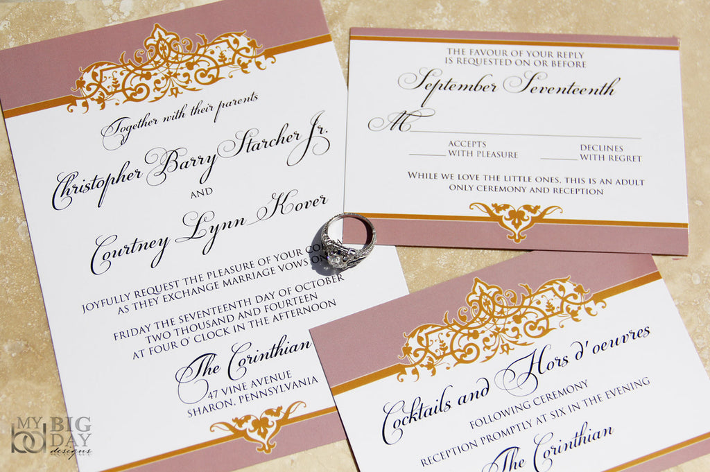 Sophisticated Style Invitation Set