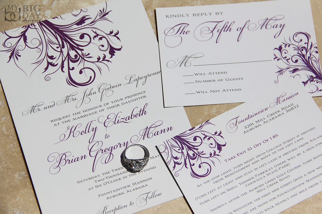 The Swirling Vines Invitation Set