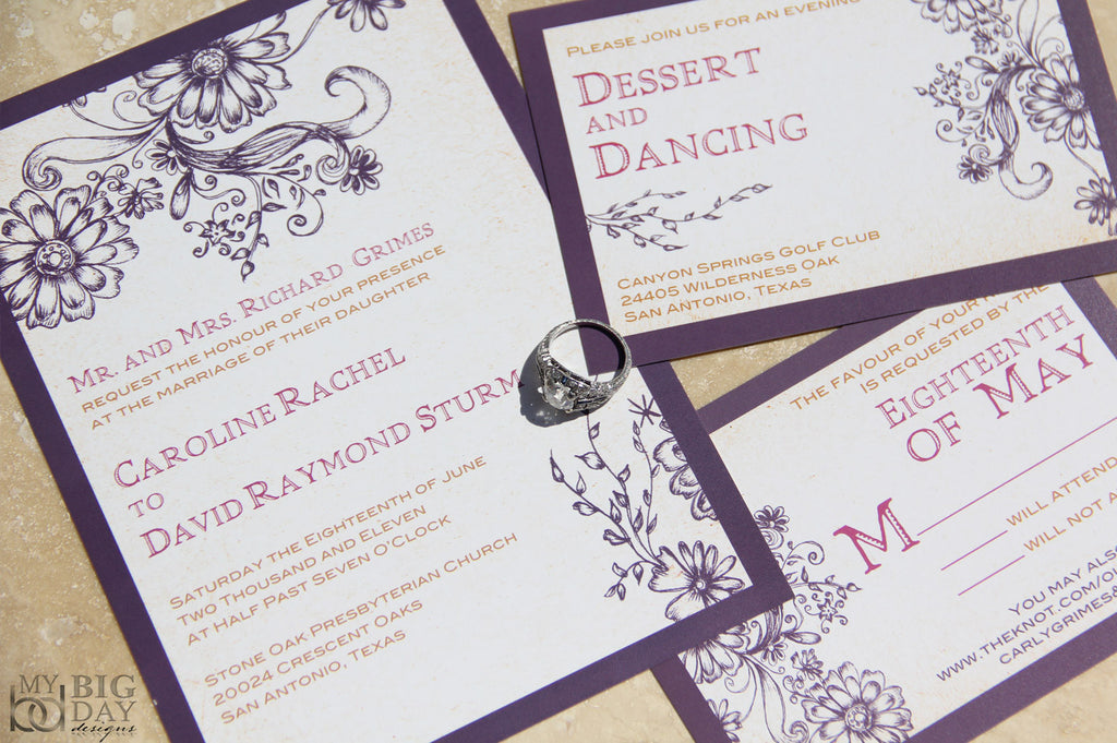 Secret Garden Invitation Set