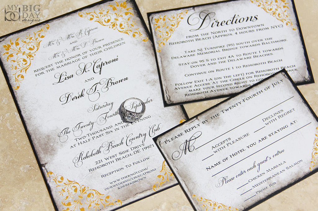 The Rustic Elegance Invitation Set