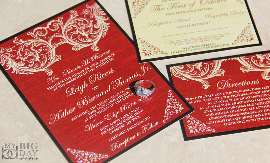 The Victorian Scroll Invitation Set