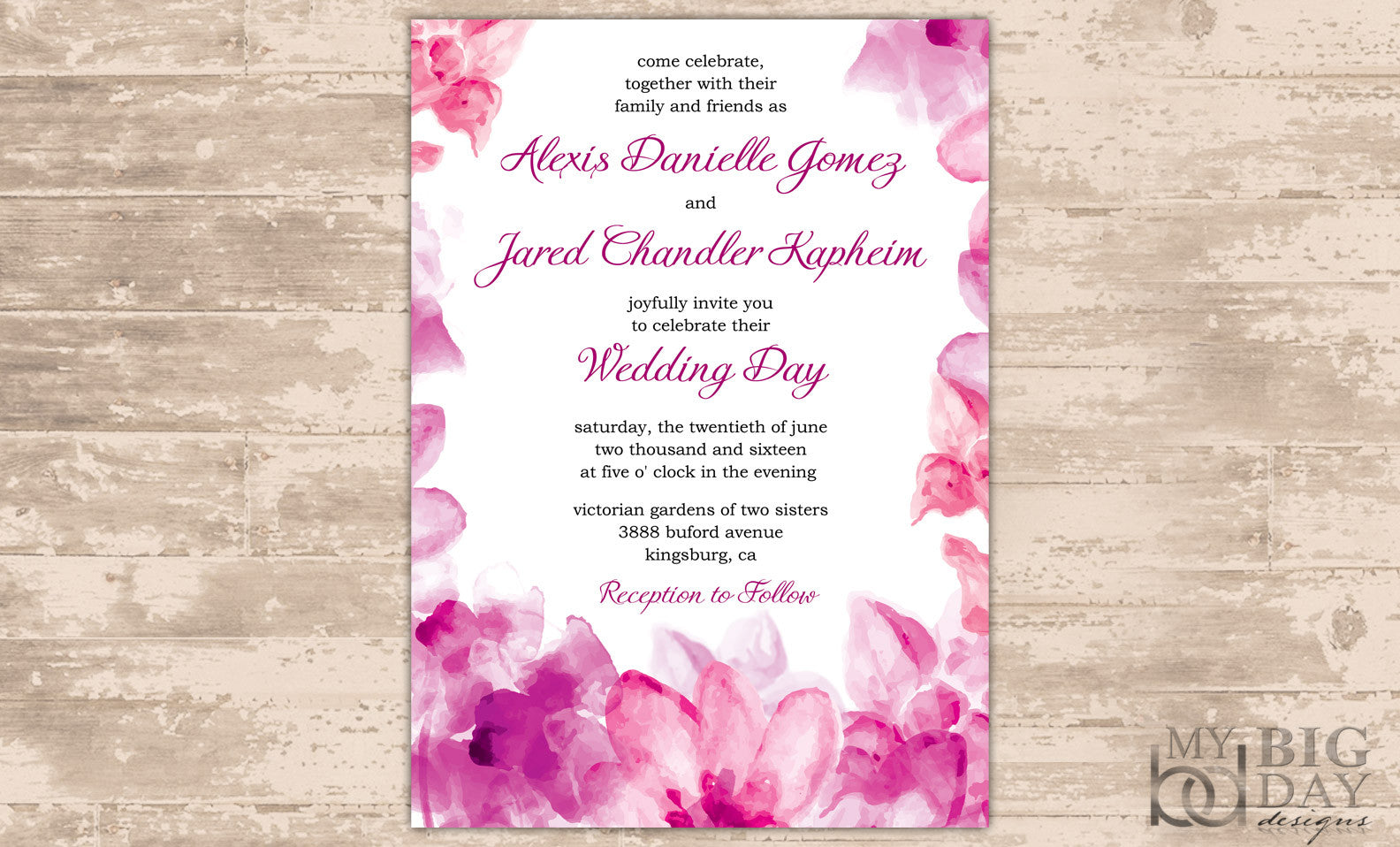 Floral Watercolor Invitation Set