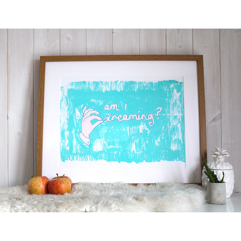 Am I Dreaming? Screen Print by Joanna Prints