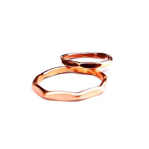 Copper Multi-Sided Stacking Ring
