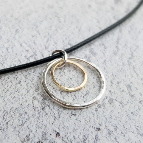Recycled Gold & Silver Double Pendant