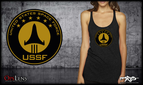 Space Force Tri-Blend Tank