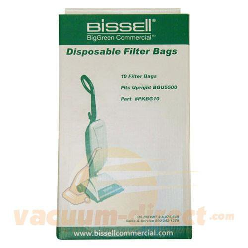 Bissell Commercial Filter Bags for BGU5500  10 Bags PKBG10